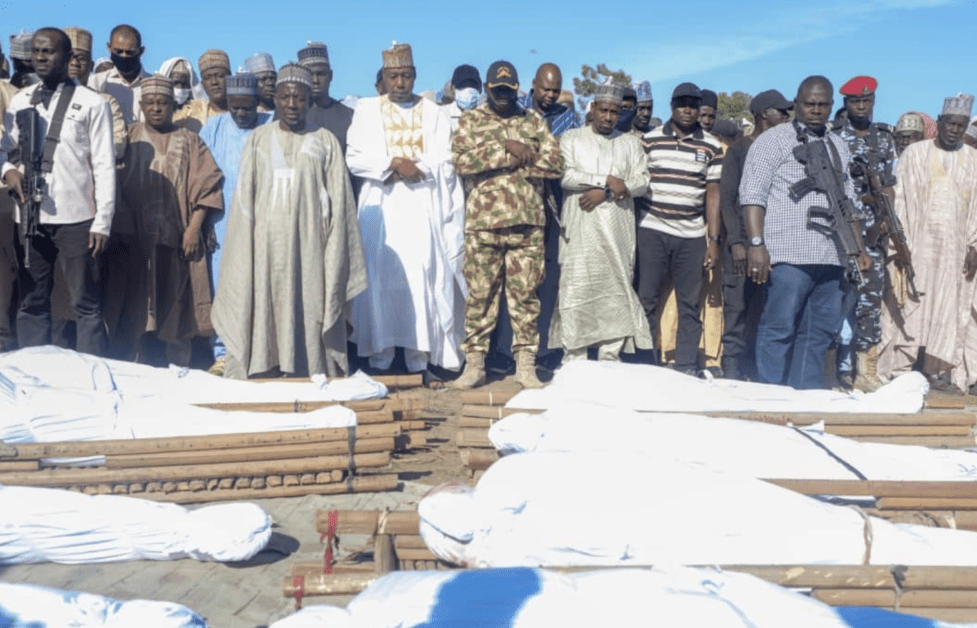 SAD Photos Of The 43 Farmers Beheaded By Boko Haram Terrorists Being Buried Hit The Internet
