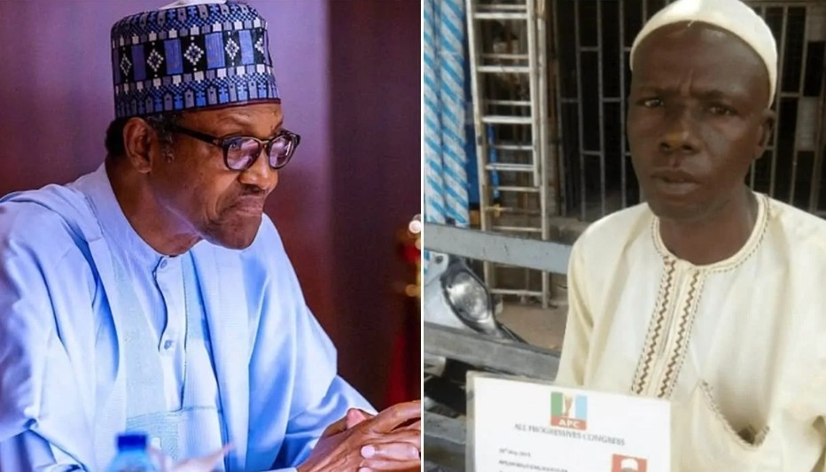 Man who trekked for Buhari in 2015 finally rewarded..see how much he got!