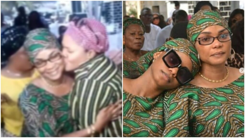 Toyin Abraham leads music session at wake keep of Iyabo Ojo's mum (photos, videos)