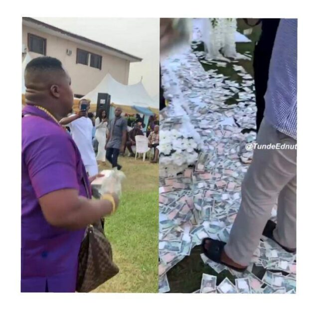 "Money Speaking"" – Fans React As Cubana Chief Priest Sprays Too Much Money At A Wedding In Owerri (Video)"