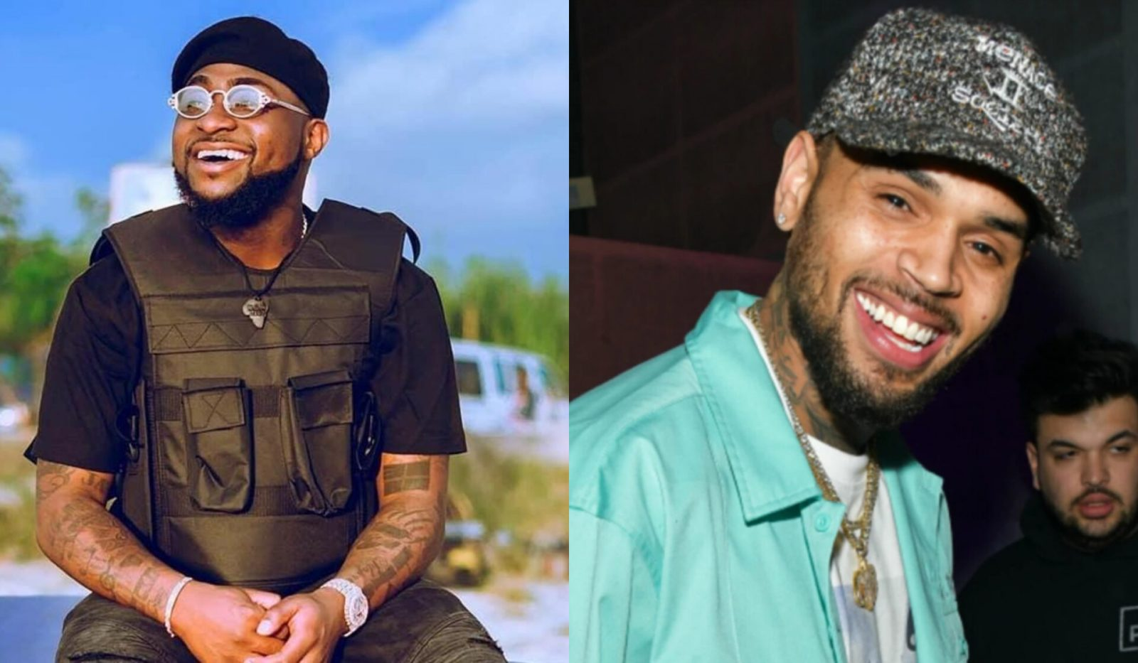 See Davido's Reaction After Chris Brown Picked His Song As One Of His Best