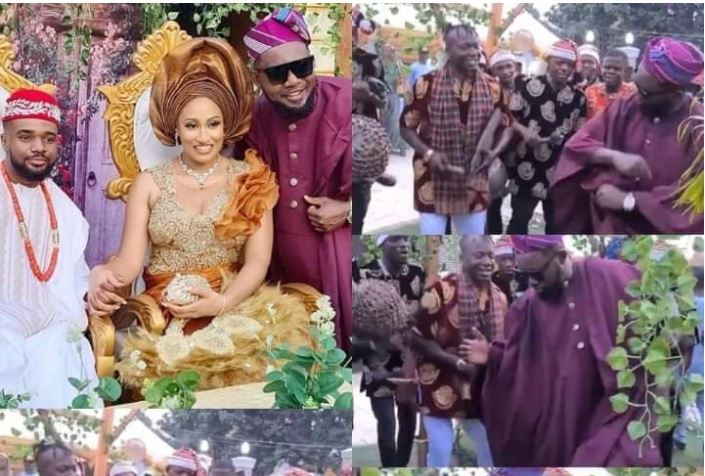 AY Comedian Causes Stir At Williams Uchemba's Traditional Wedding With Incredible Dance Moves (VIDEO)