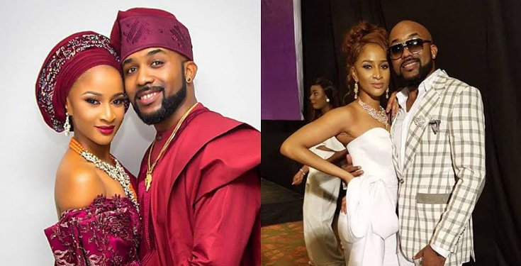 Banky W and Adesua Etomi-Wellington tease each other Romantically with Bible verses