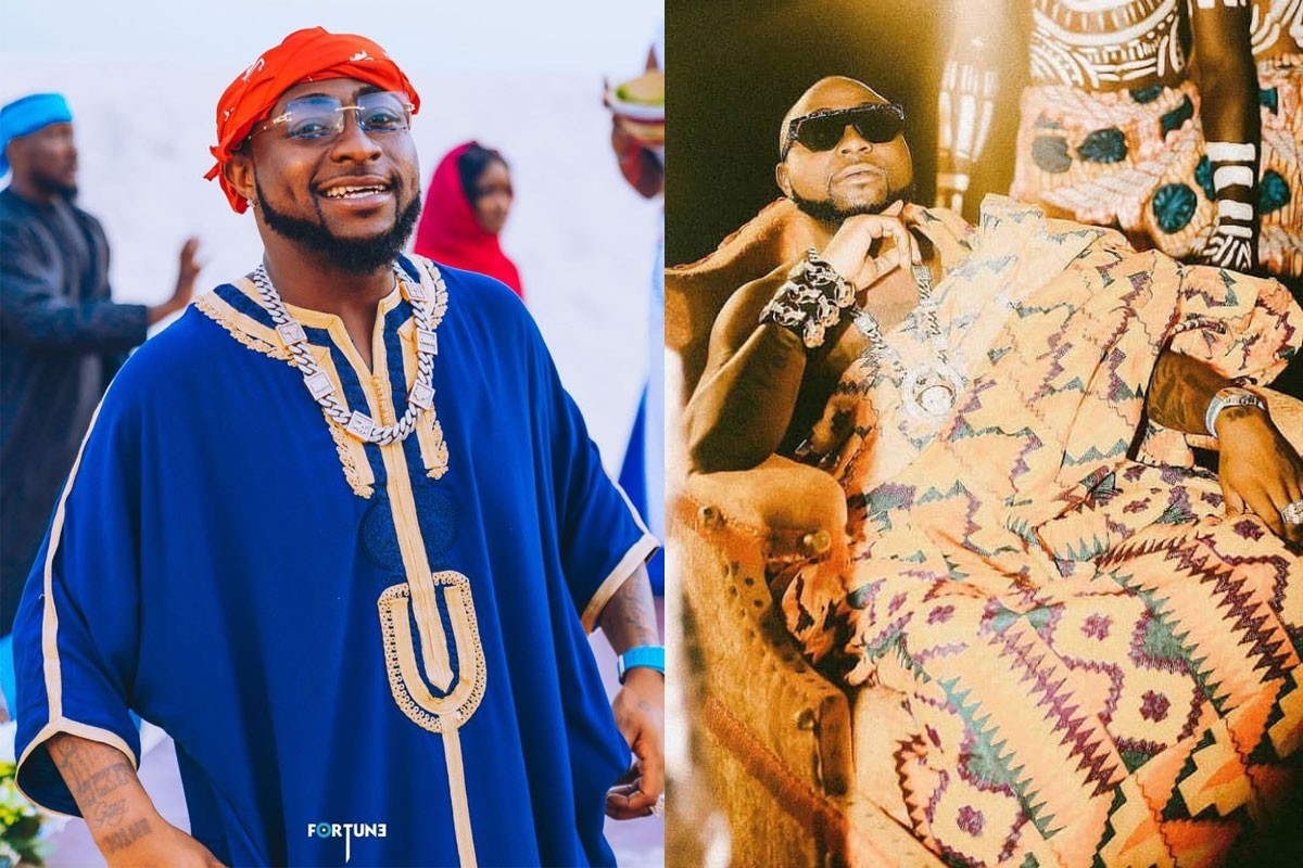 "KING @28"" – Davido Stuns In Royal Outfits As He Celebrates His Birthday (PHOTOS)"