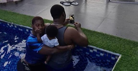 Family Time – Mercy Johnson Shares Adorable Pool Time Photos Of Her Family