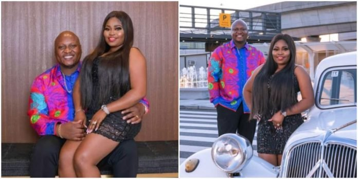 """I can't imagine living without you, I am so lucky to have you"" Yoruba Actress, Tawa Ajisefinni's celebrates her American based husband on his birthday (PICS)"