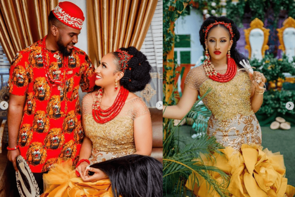 See What Williams Uchemba's Wife Wore For The Traditional Wedding (Photos)