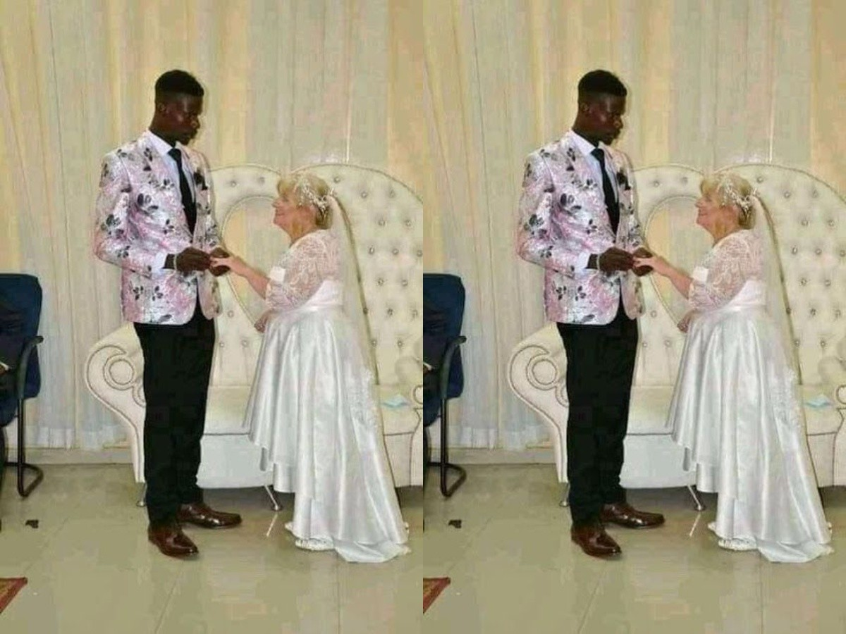 The Got People Talking As young Nigerian Man Weds Older White Woman