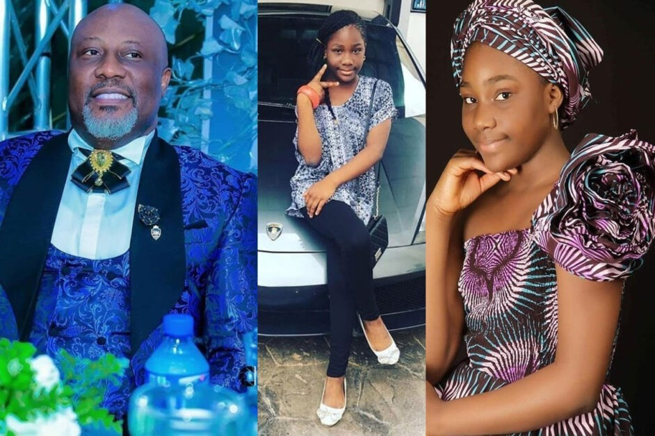 Dino Melaye Gifts 11-Year-Old Daughter A Lamborghini On Her Birthday (Photos)