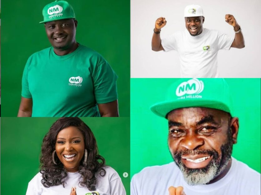 Veteran actors Antar Laniyan and Funsho Adeolu Biola Adebayo, Kunle Afod Badge an Endorsement Deal with Naira Million Lottery Photos