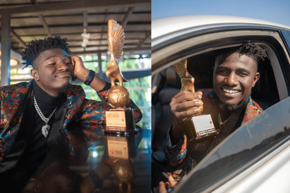 Famous Comedian Nasty Happy As He Wins Comedian Of The Year Award (Photos/Video)