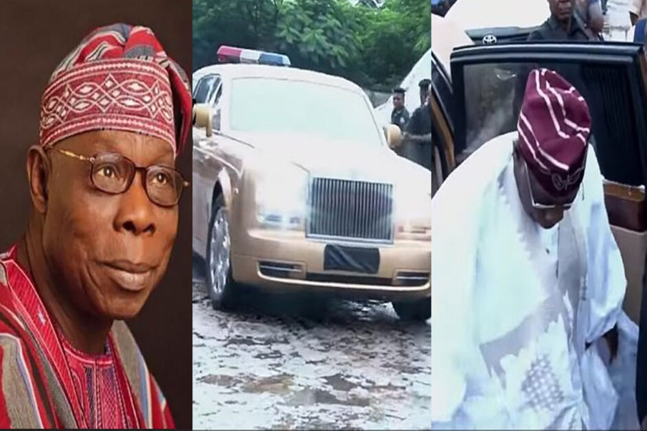Olusegun Obasanjo Steals The Show At A Friend's Birthday Party As He Arrives In A Gold Rolls Royce (PHOTOS)