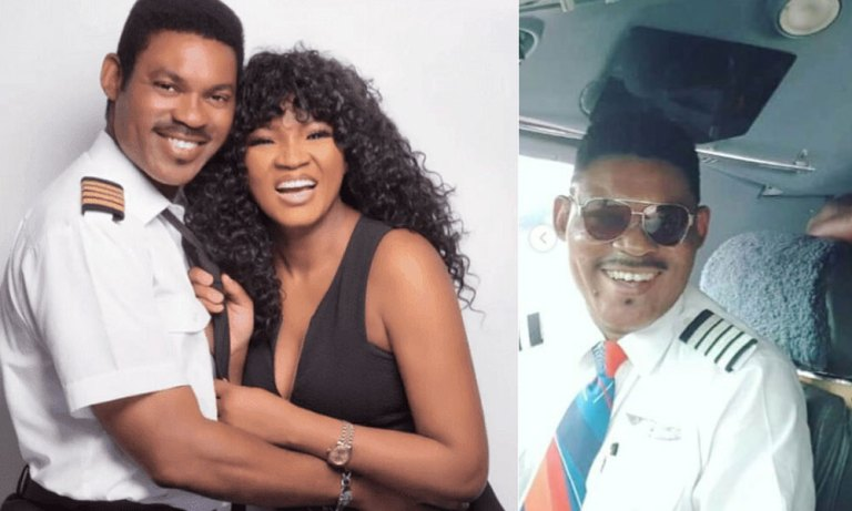 """""""Thank You To The Grand Man Always By My Side"""" – Omotola Jalade Celebrates Hubby"""