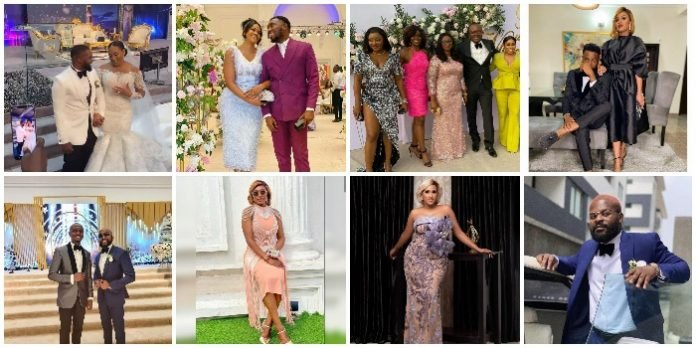 See How Rita Dominic, Ufuoma MCDermott, Banky W & Other Celebrities Stepped Out For Williams Uchemba's Wedding