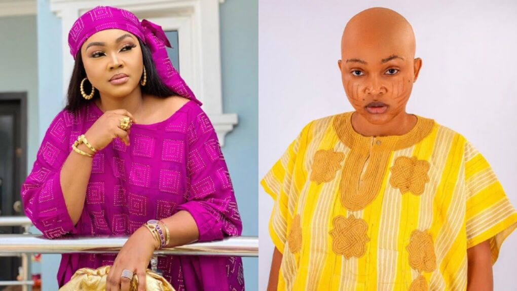 Mercy Aigbe causes stir on social media as she appears with tribal marks on her face