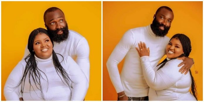 """""""It won't have been possible without God, Come Celebrate in Our Love Story. 22nd Nov. 2020"""" – Plus size lady says as she shares beautiful pre-wedding photos"""