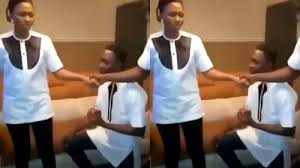 Video: Moments When Prayer Warrior Proposed To His Girlfriend In The Middle Of Prayers