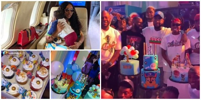 See beautiful photos and video from Davido and Chioma's glamorous birthday party for their son, Ifeanyi Adeleke Jr. (Photos/Video)