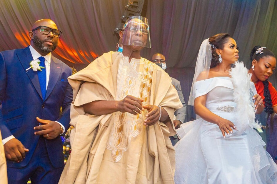 Former President, Olusegun Obasanjo's son, Seun ties the knot with lover, gifts her a Benz
