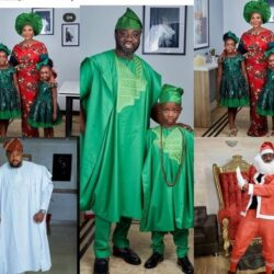 See The Outfit Mercy Johnson, Femi Adebayo, Toyin Aimakhu, Odunlade, Wore To Celebrate Christmas