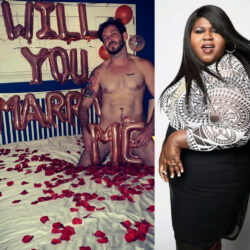 Empire star, Gabourey Sidibe wishes her man a happy birthday with photo of him proposing to her in the nude