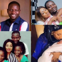 Meet The Yoruba Comic Actor Afeez Owo, his wife and his three lovely children