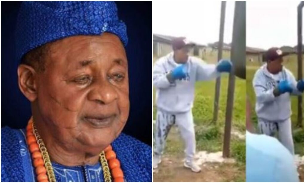 Alaafin of Oyo defies old age, hits the gym at 82  video