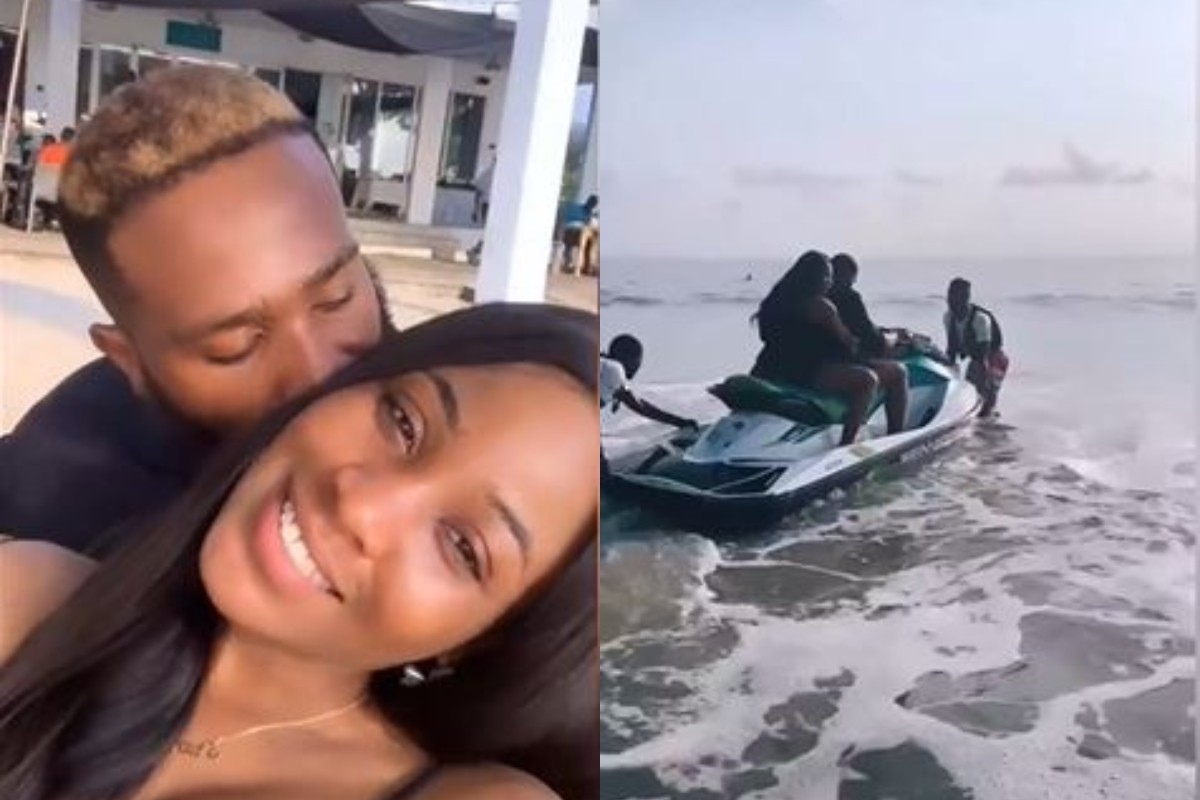 Kiddwaya And Erica Flaunt Their Love At The Beach (Video)