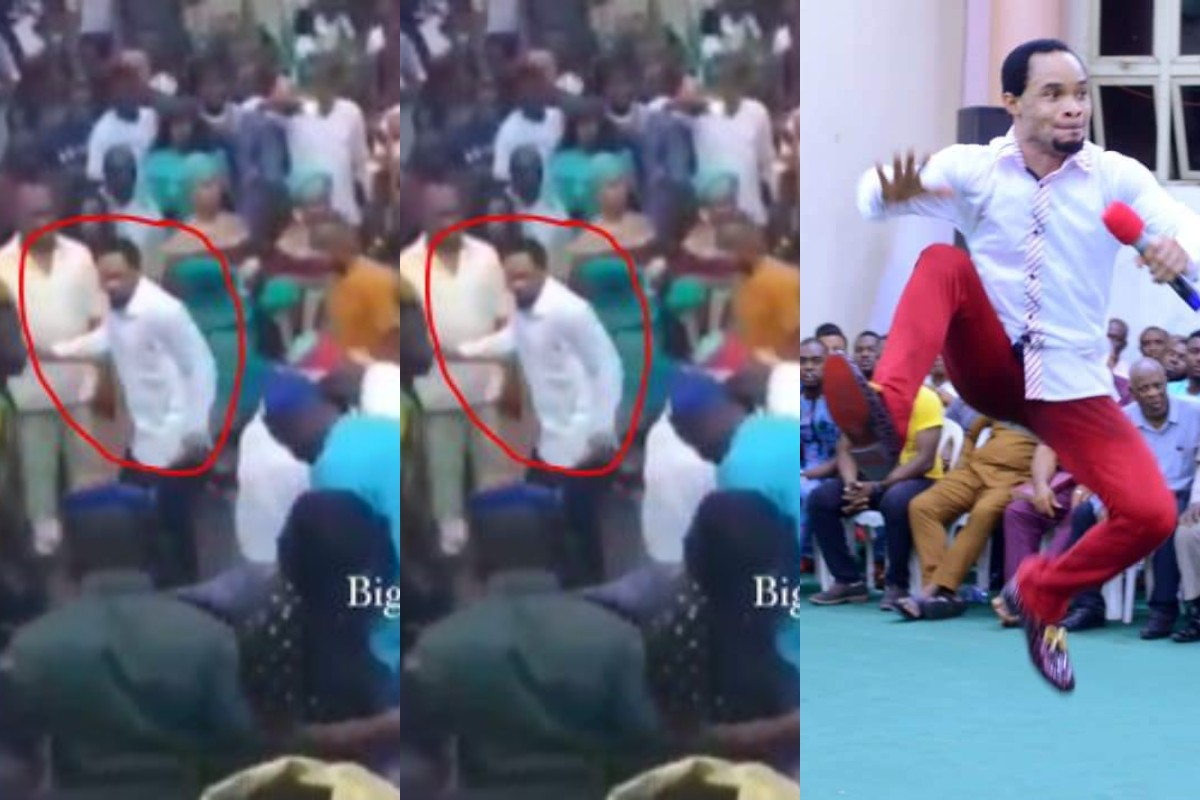 """""""Odumeje, Why Are You Running"""" – Nigerians React After Seeing Him Run Away From Spraying Cash Competition At An Event (Video)"""