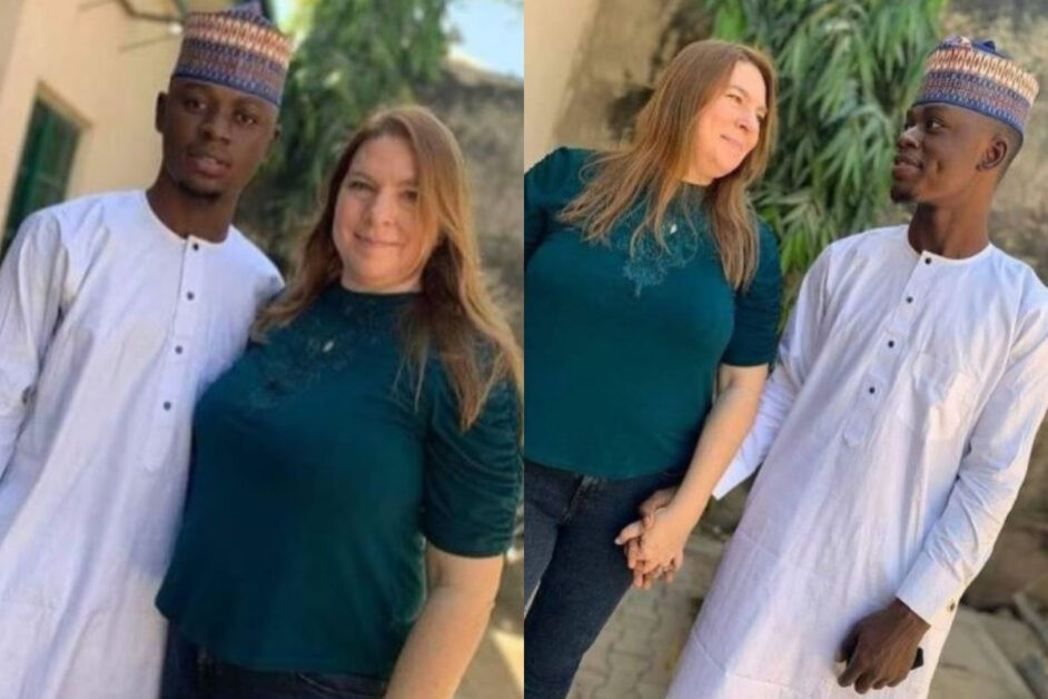 46-Year-Old American Mother Arrives In Nigeria, To Marry Her 23-Year-Old Lover In Kano State (Photos)