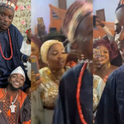 Davido's Driver, Tunde And Wife On Cloud Nine As He Performs At Their Wedding (Video)