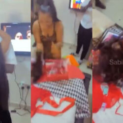 Nigerian Lady Goes Berserk On Receiving A Bone Straight Hair Gift From Boyfriend