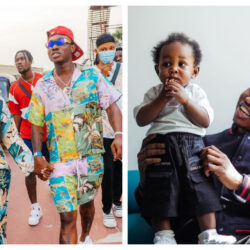 Family Over Everything: Zlatan Ibile, His Son And Baby-Mama Davita, Rock Matching Outfit For A Photo-Shoot (Video)