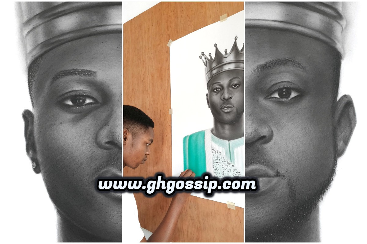 Talented Nigerian Artist Draws A Fusion-Portrait Of Wizkid And Davido To Promote Oneness (PHOTOS)