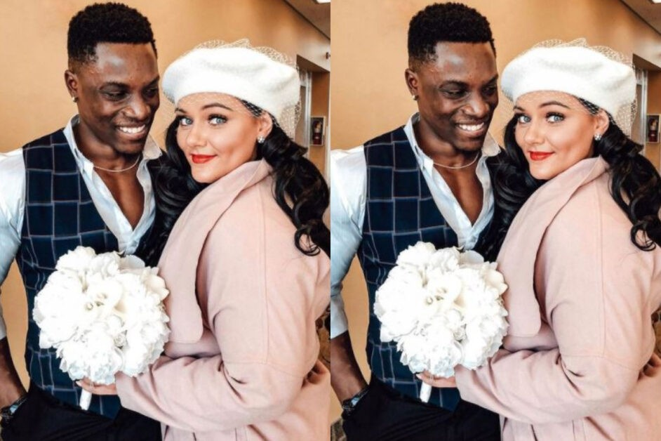 BBNaija Star Bassey And Wife Nadia, Celebrate 1st Wedding Anniversary (Photos).