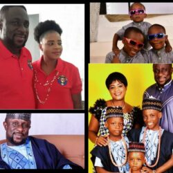 Lovely Pictures of Yoruba Actor Lekan Olatunji, Wife and Three Sons