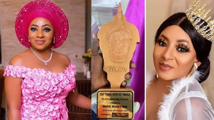 Actress, Mide Martins bags award for the Best supporting actress for the year 2020