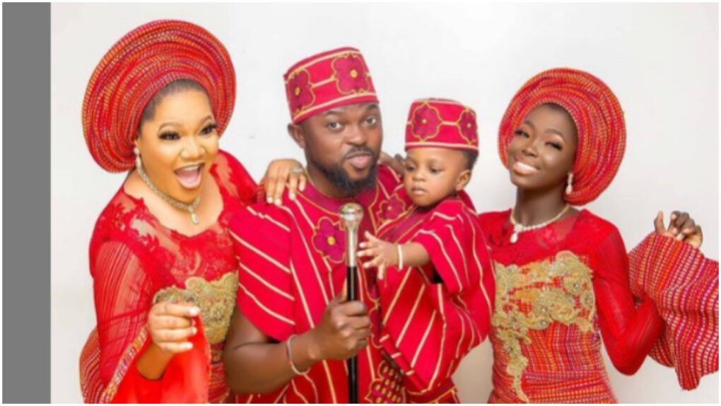 Lovely Family; Reactions as actress, Toyin Abraham shares full family photos,