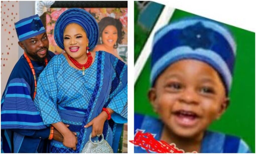 Toyin Abraham finally reveals the face of her cute son, Ire