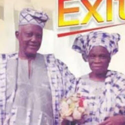 Nigerian Couple Who Were Married For 72 years, Die Same Day, Buried Same Day