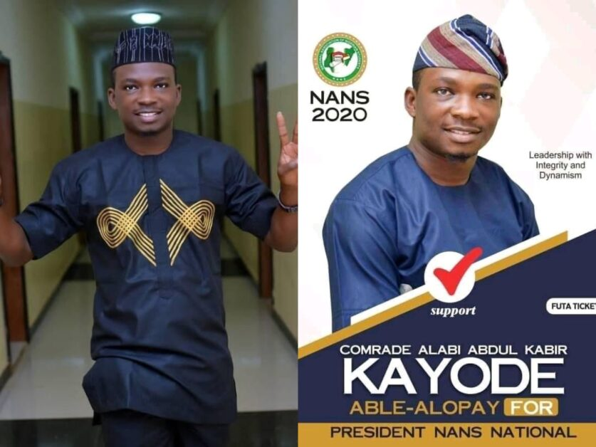 MANIFESTO BY ALABI KAYODE ABDULKABIR ALOPAY ASPIRANT FOR THE POST OF NANS NATIONAL PRESIDENT 2020