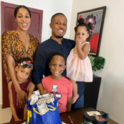 Rapper, NaetoC Celebrates His Birthday With His Wife And Children (Photos).