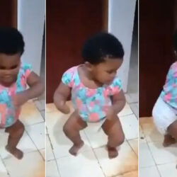 Little Baby In Diaper Shows Amazing Dancing Skills (VIDEO)