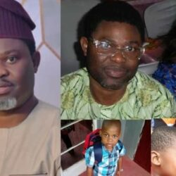 Beautiful Pictures Of Yoruba Actor Yomi Fash-Lanso, His Beautiful Wife And Son