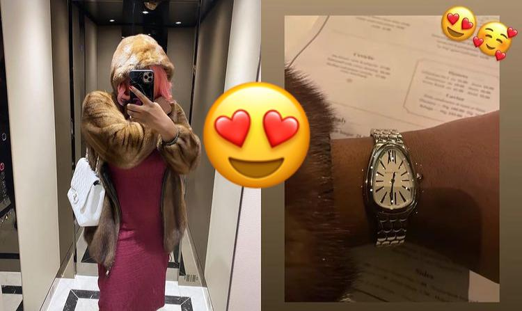 """Where Do They See This Kind Of Money"""" – Fans React As DJ Cuppy Flaunts The Bulgari Wrist Watch She Wore To A Date"""