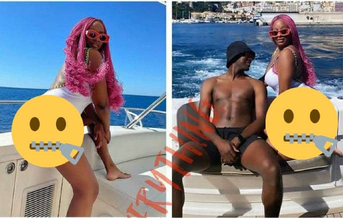 Why Is The Guy Covering His Center Of Gravity – Cuppy Gets Fans Talking Over Photo With Mysterious Guy