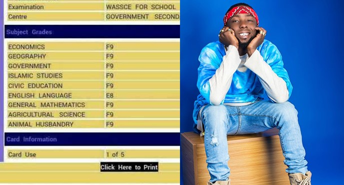 """I'm Looking For Someone With 6 F9s In Their Old WAEC result, You'll Get N100k"" – Erigga Announces"