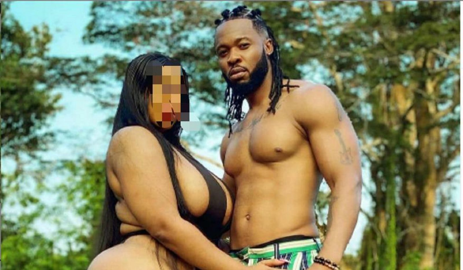 Alleged Photo Of Plus-Sized Nak3d Woman Singer Flavour Was Seen Carrying Finally Drop