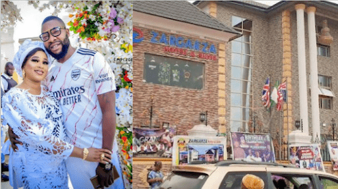 Checkout MC Oluomo's Deputy 500 Million Naira Hotel As He Snaps With His Wife And Kids. (Photos)