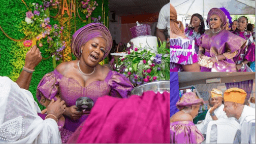 Moment From Actress Adekemi Taofeek Wedding Ceremony As She Ties The Knot With Her Lover. (Video)